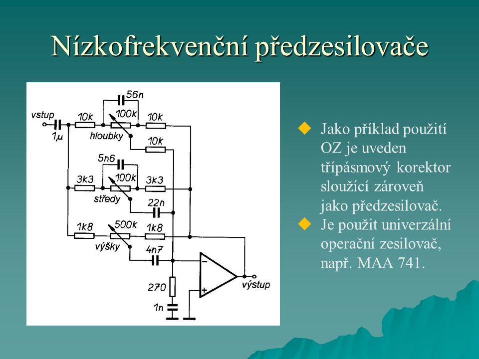 Nízkofrekvenční předzesilovače