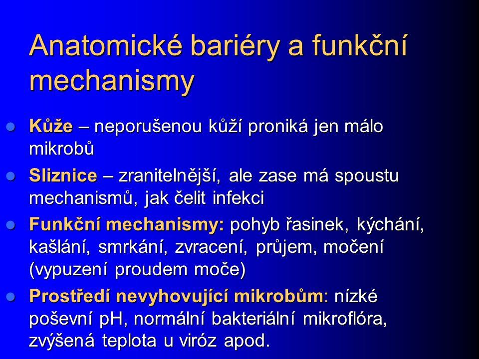 Anatomické bariéry a funkční mechanismy