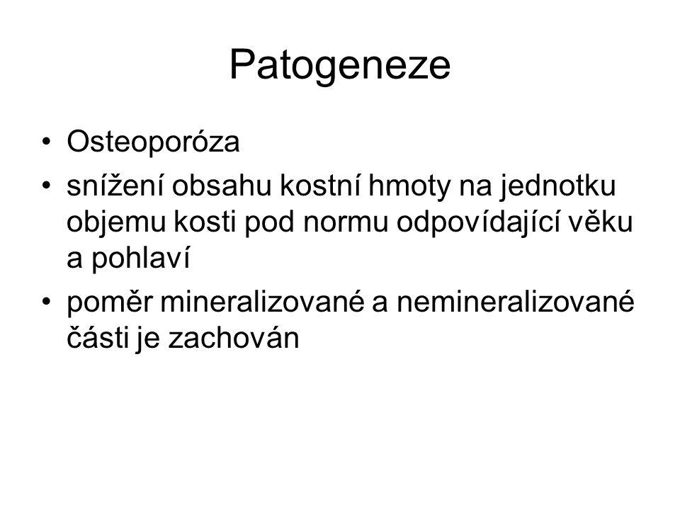 Patogeneze Osteoporóza