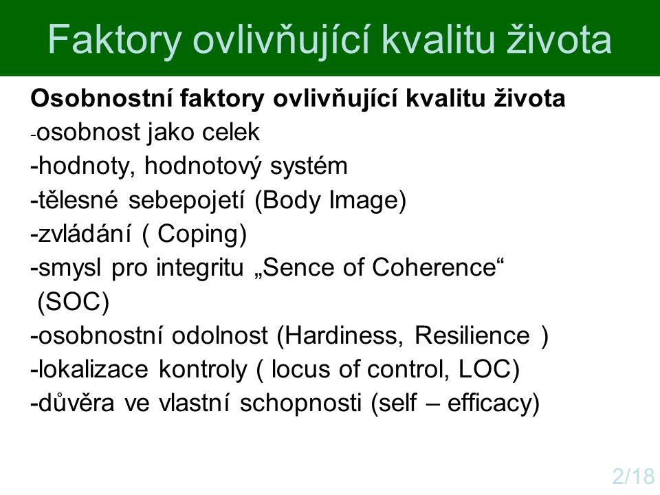 Faktory ovlivňující kvalitu života