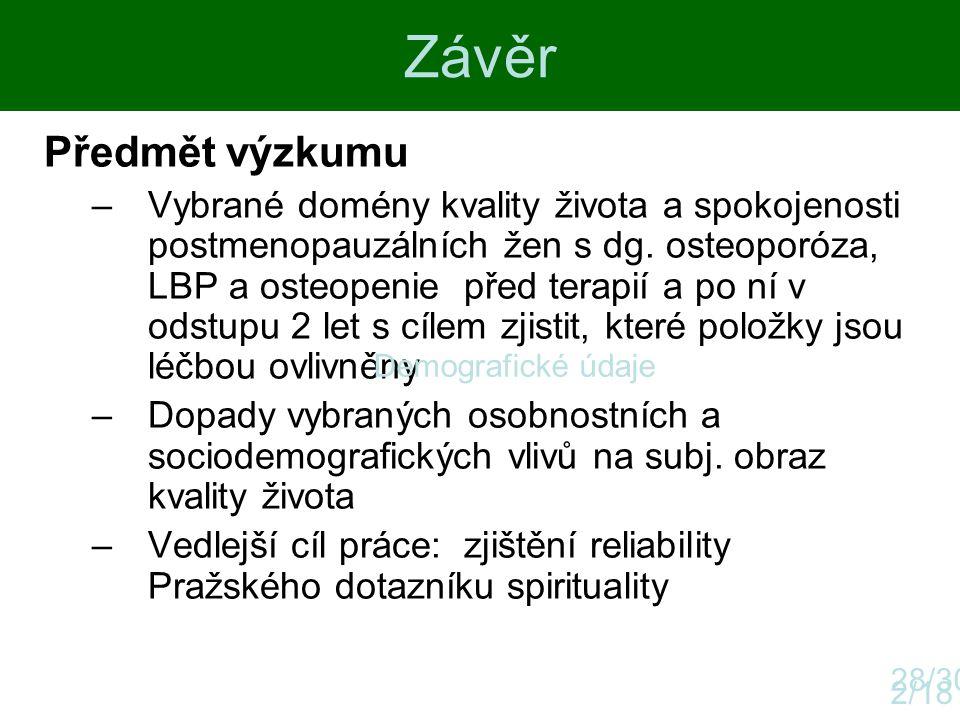 Závěr Předmět výzkumu.