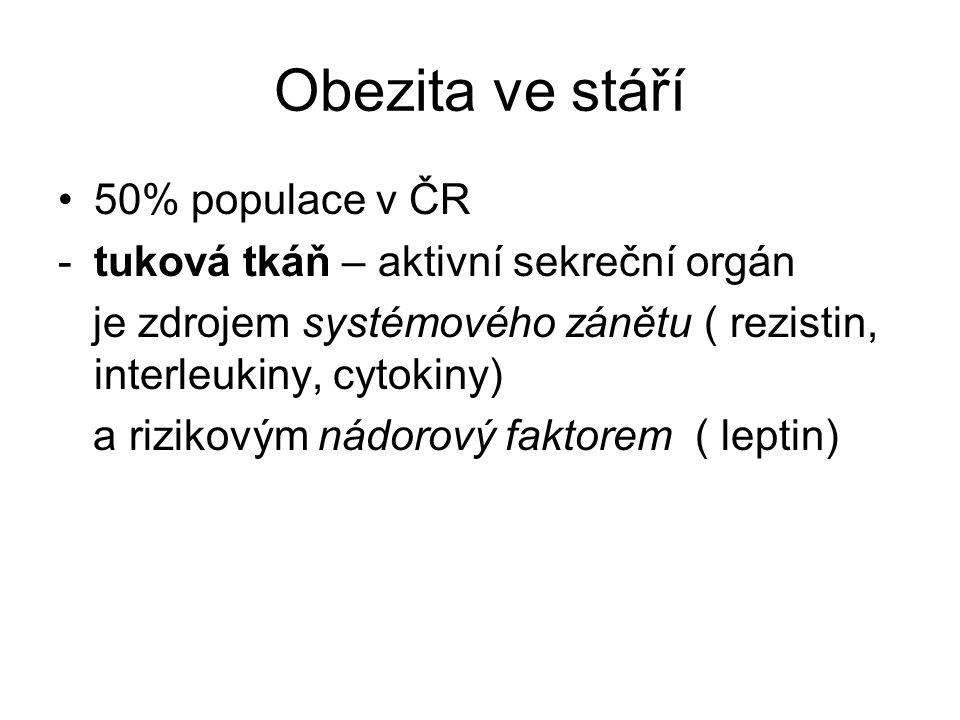 Obezita ve stáří 50% populace v ČR