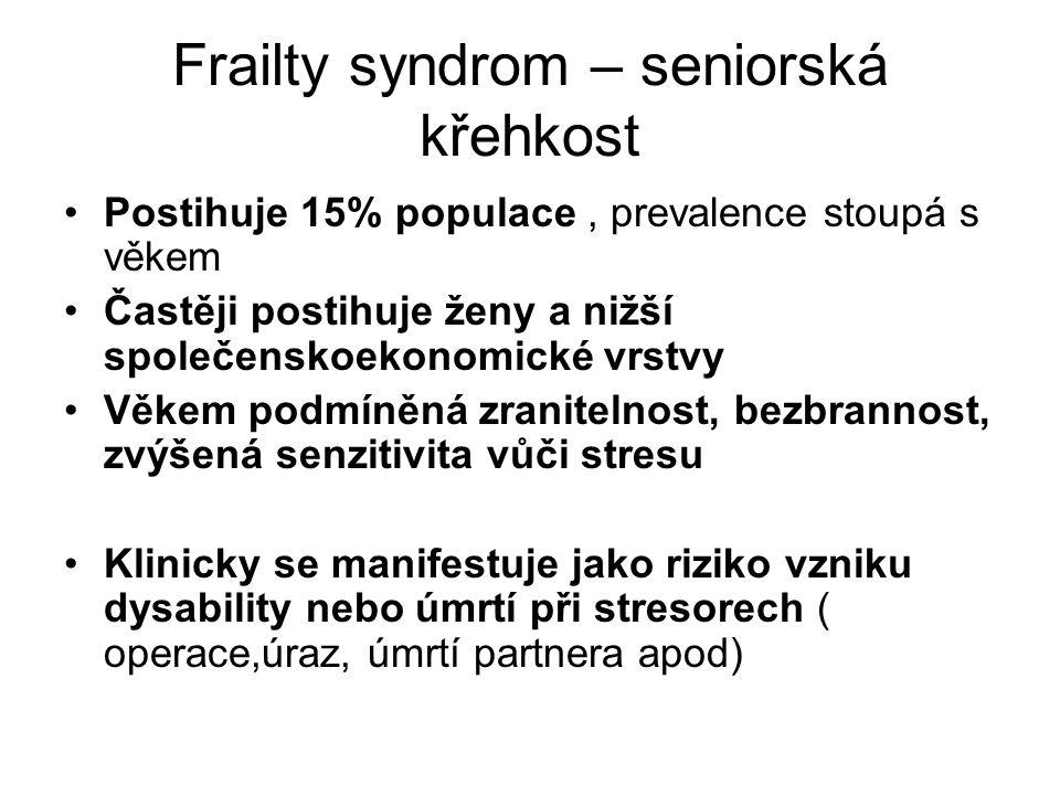 Frailty syndrom – seniorská křehkost