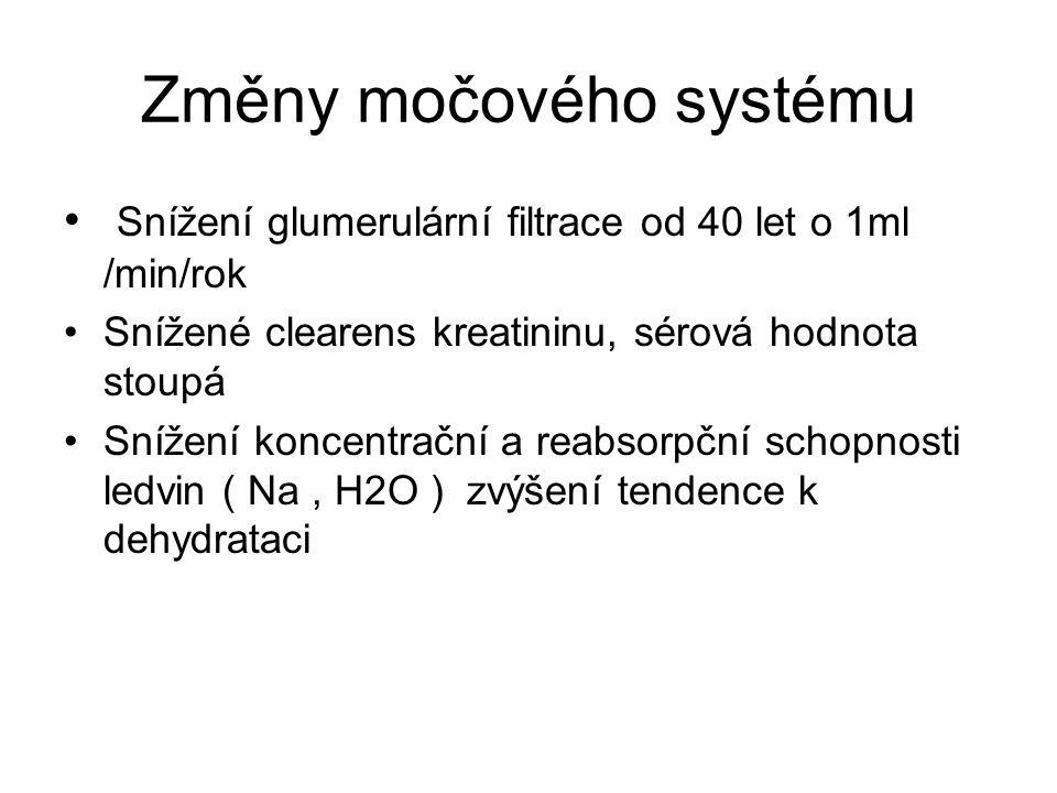Změny močového systému