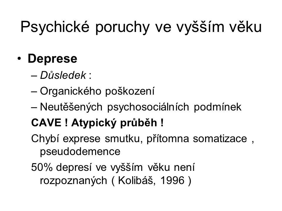 Psychické poruchy ve vyšším věku