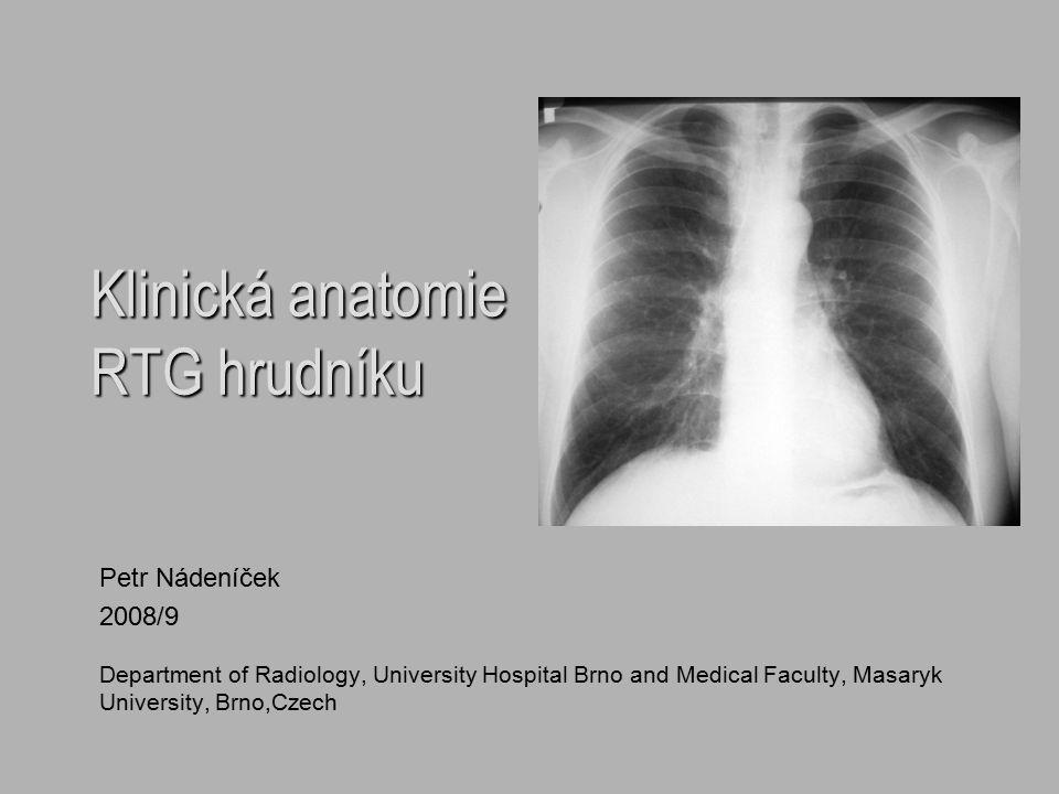 Klinická anatomie RTG hrudníku