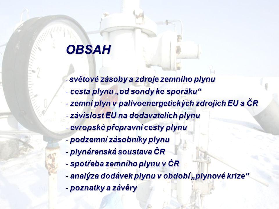 """OBSAH cesta plynu """"od sondy ke sporáku"""
