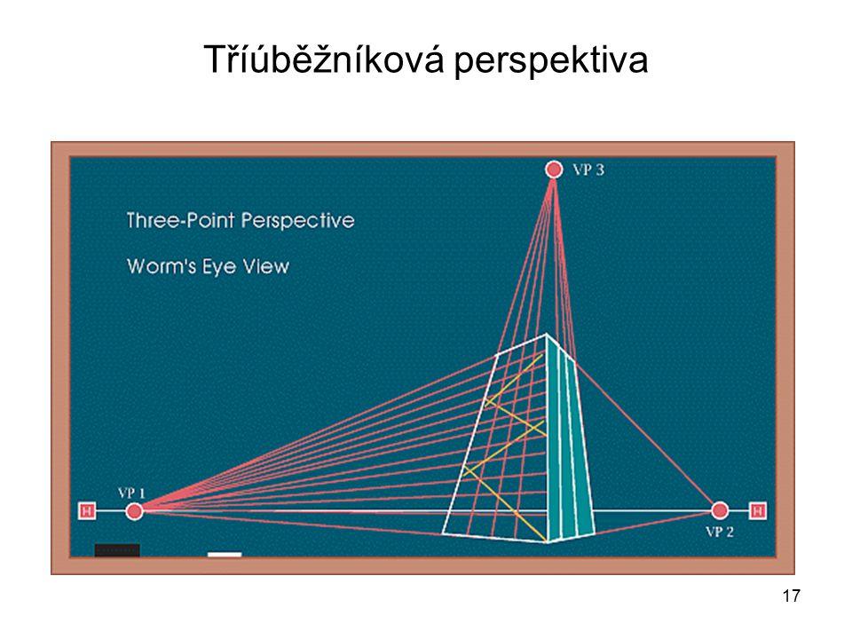 Tříúběžníková perspektiva