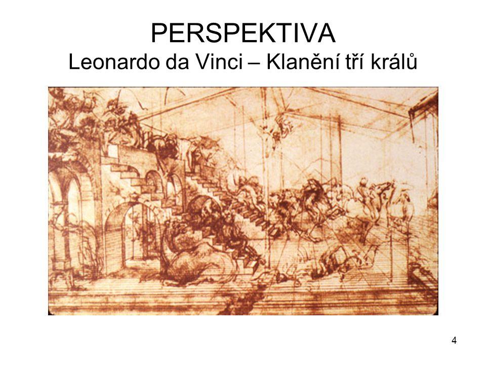 PERSPEKTIVA Leonardo da Vinci – Klanění tří králů