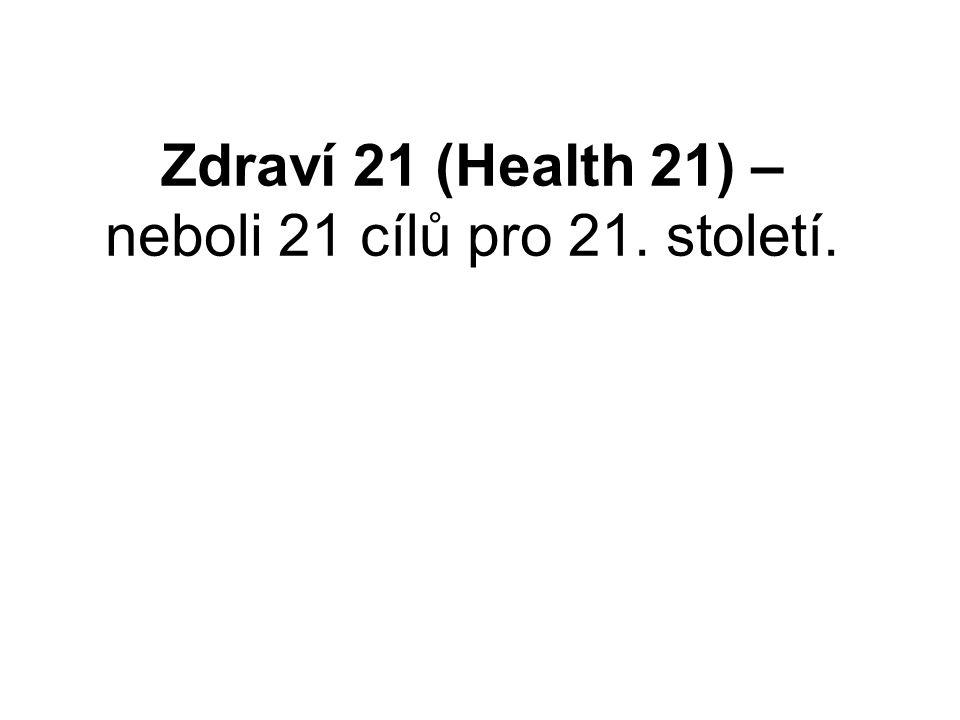 Zdraví 21 (Health 21) – neboli 21 cílů pro 21. století.