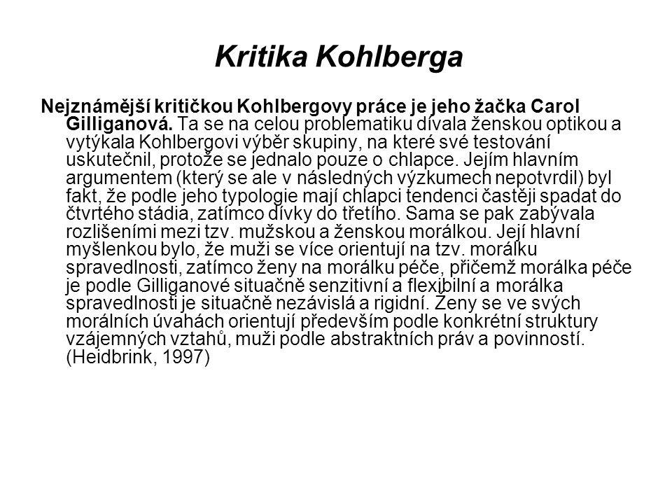Kritika Kohlberga