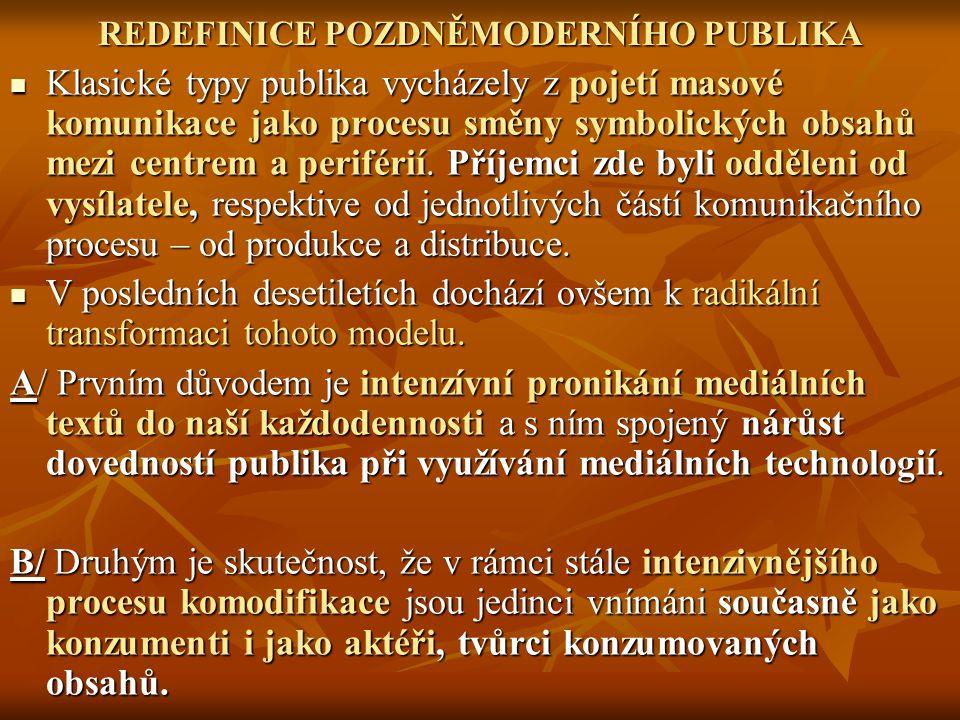 REDEFINICE POZDNĚMODERNÍHO PUBLIKA