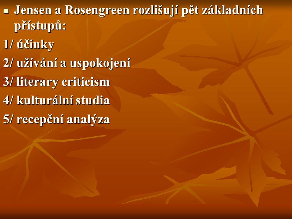 Jensen a Rosengreen rozlišují pět základních přístupů: