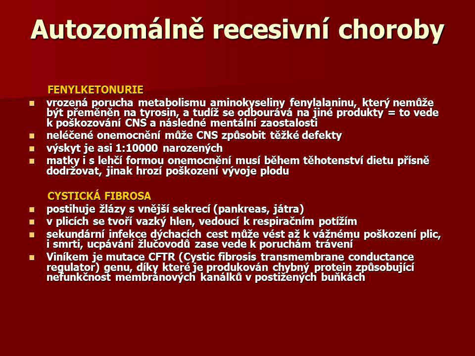 Autozomálně recesivní choroby