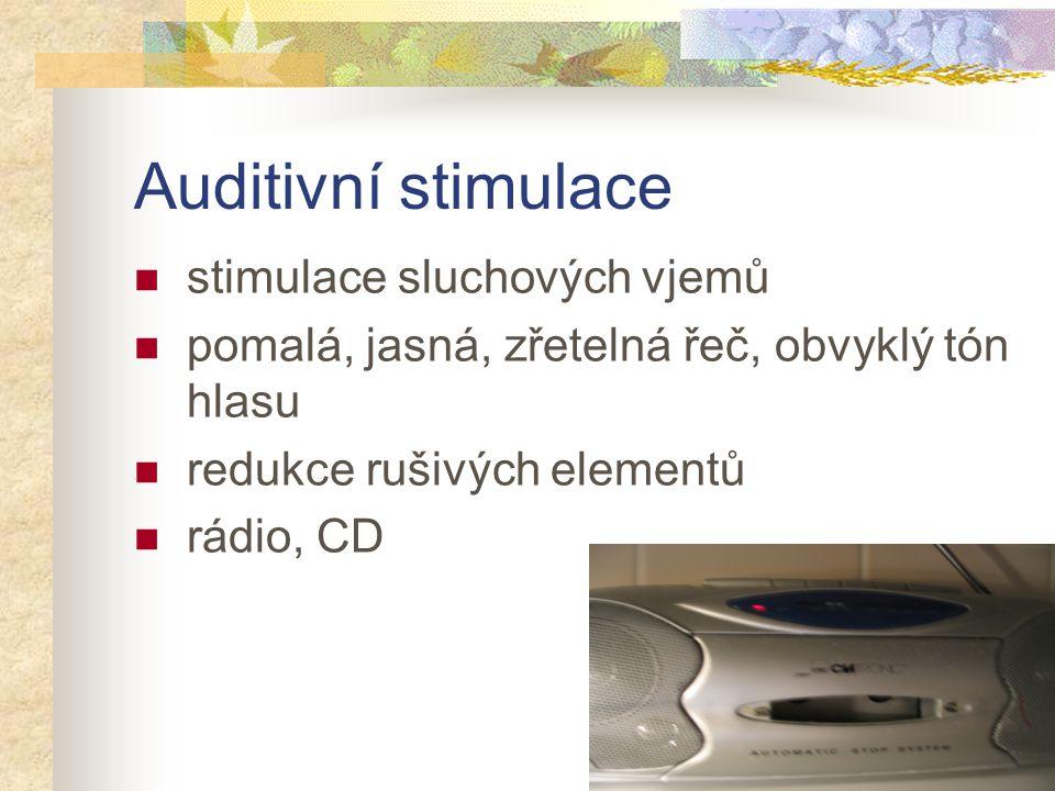 Auditivní stimulace stimulace sluchových vjemů