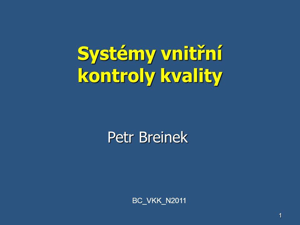 Systémy vnitřní kontroly kvality