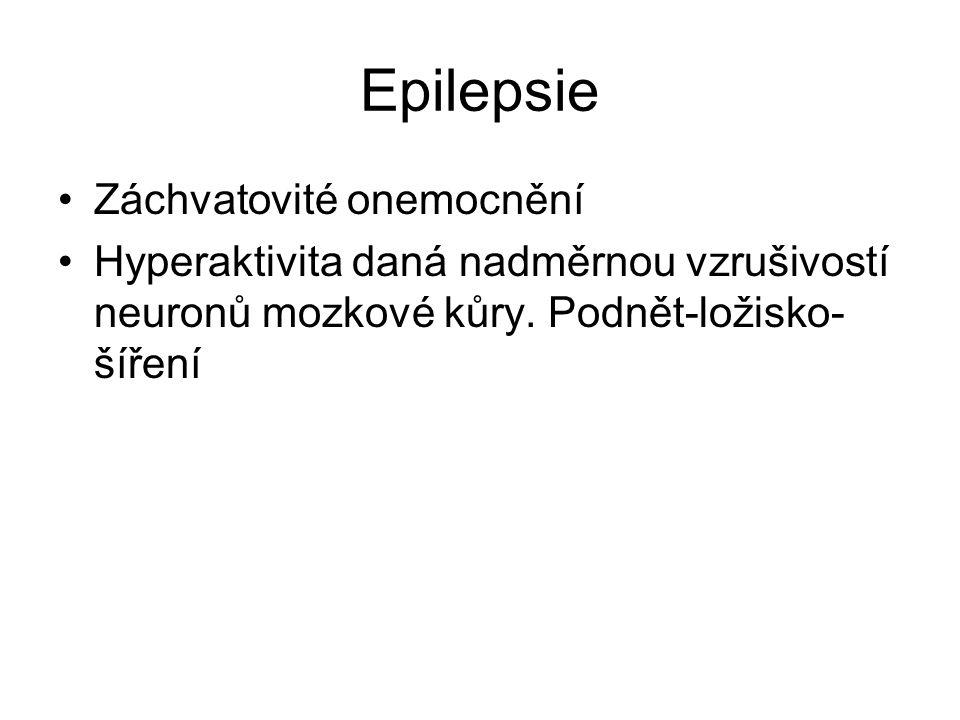 Epilepsie Záchvatovité onemocnění