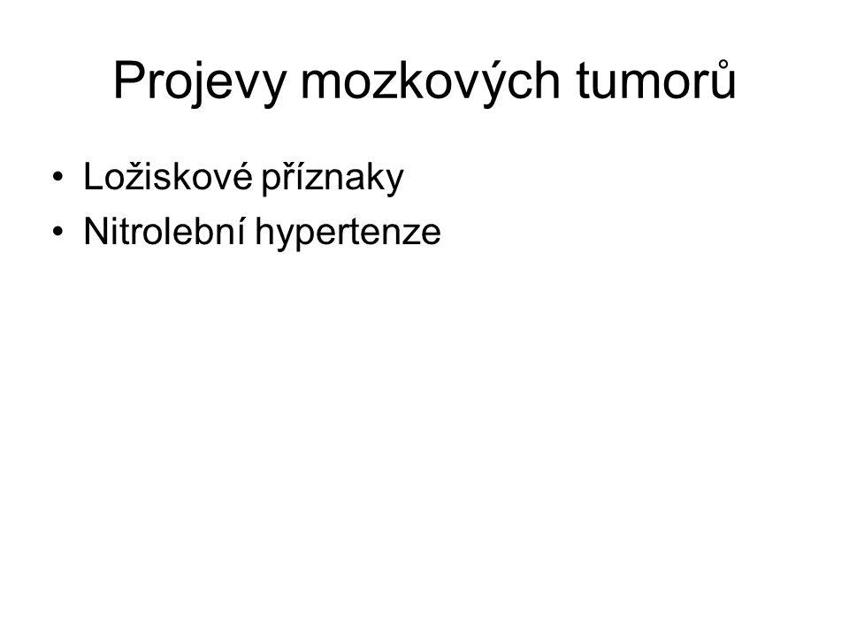 Projevy mozkových tumorů