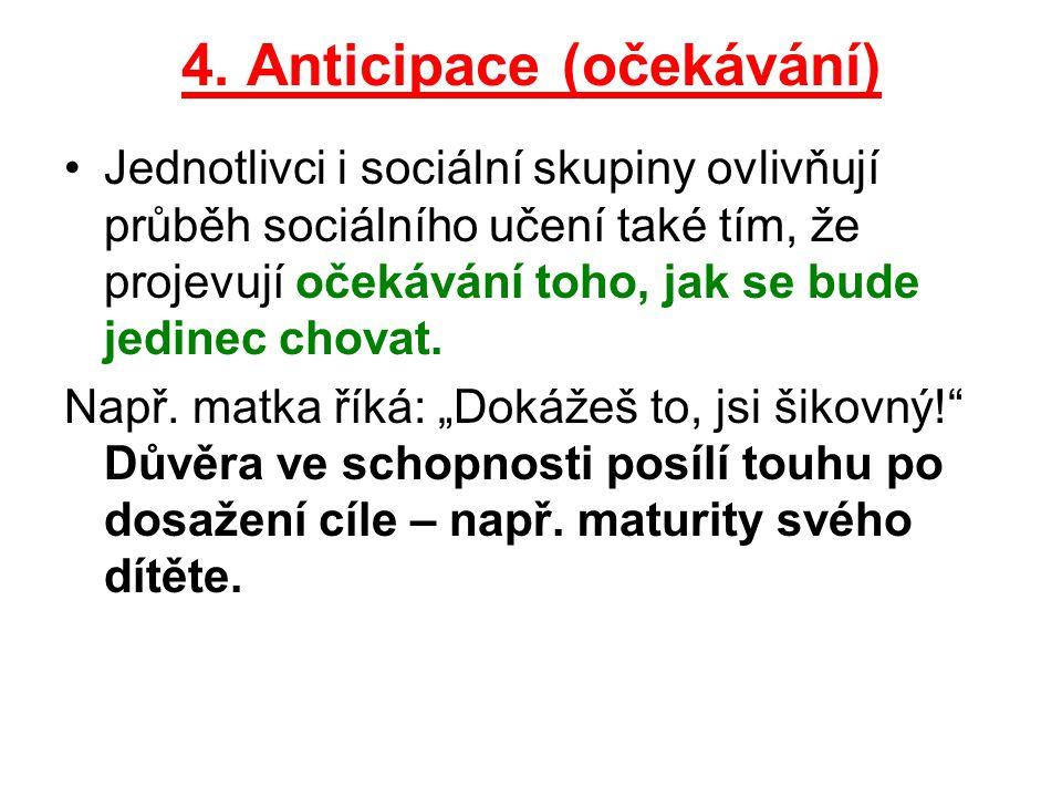 4. Anticipace (očekávání)