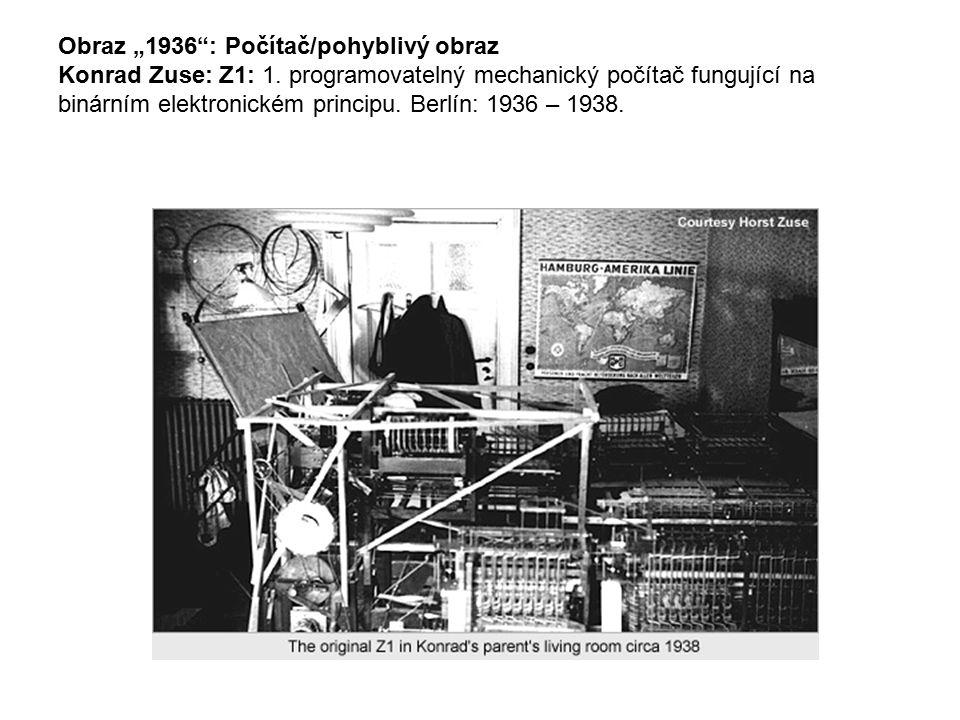 "Obraz ""1936 : Počítač/pohyblivý obraz Konrad Zuse: Z1: 1"