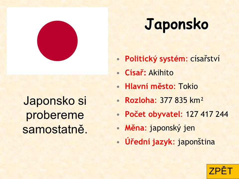 Japonsko si probereme samostatně.