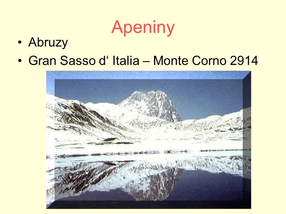 Apeniny Abruzy Gran Sasso d' Italia – Monte Corno 2914