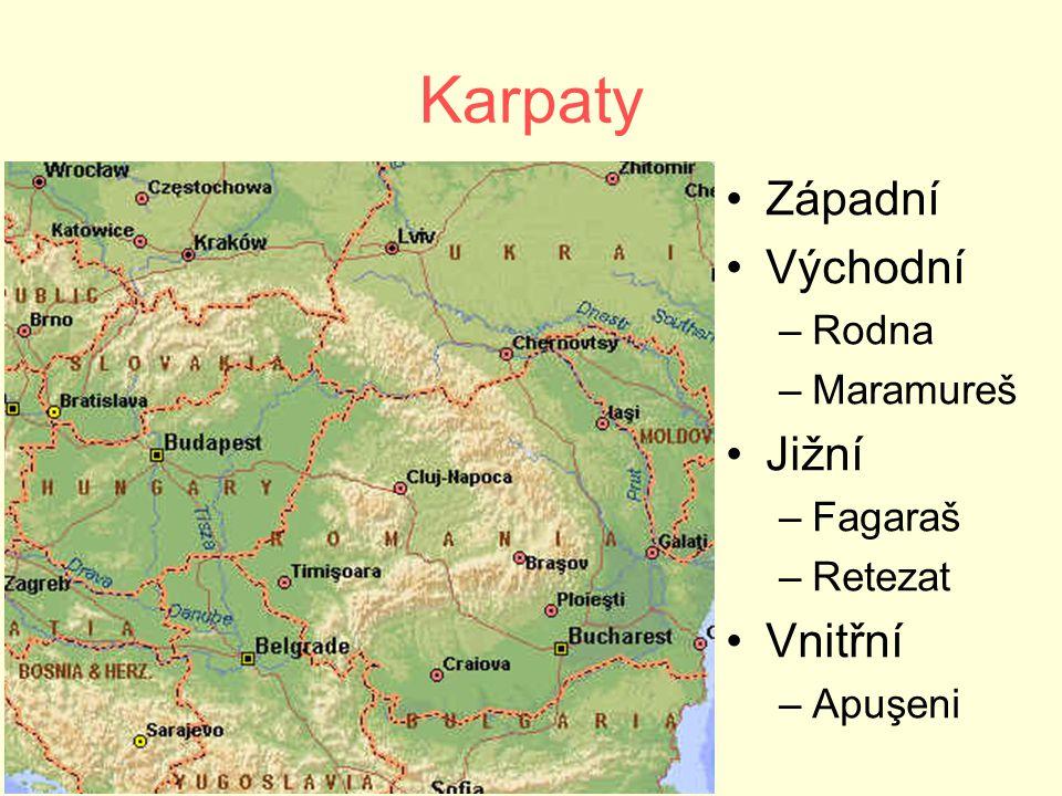 Karpaty Západní Východní Jižní Vnitřní Rodna Maramureš Fagaraš Retezat