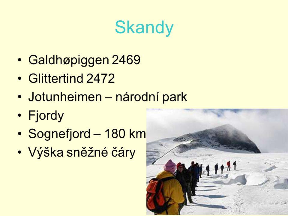 Skandy Galdhøpiggen 2469 Glittertind 2472 Jotunheimen – národní park