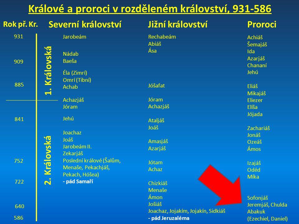 Králové a proroci v rozděleném království, 931-586
