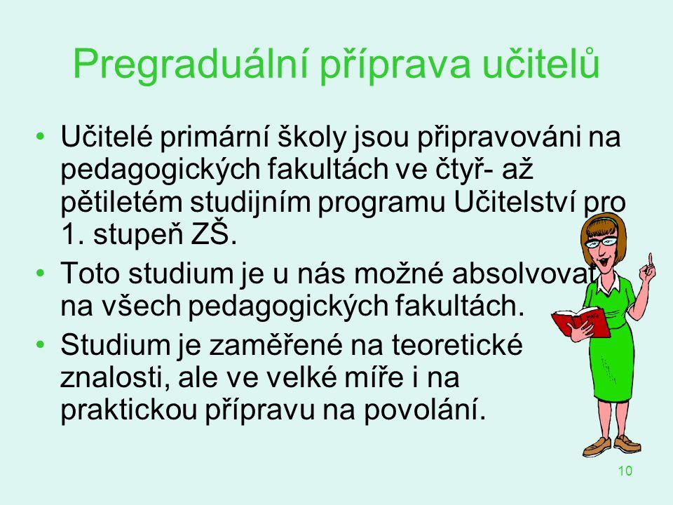Pregraduální příprava učitelů