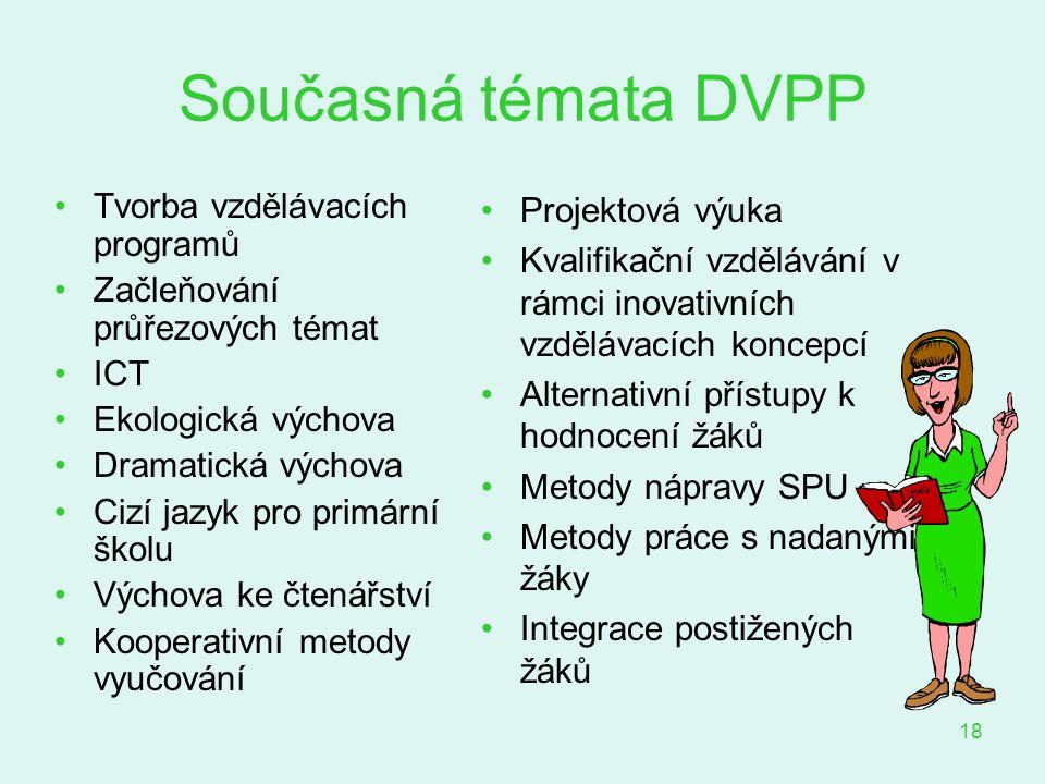 Současná témata DVPP Tvorba vzdělávacích programů