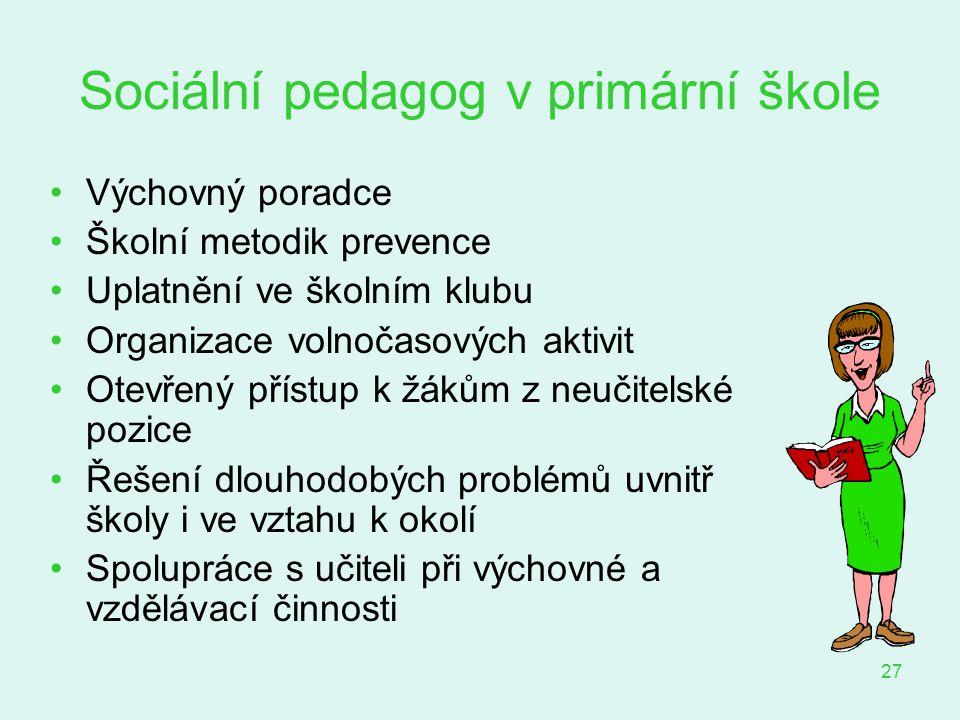 Sociální pedagog v primární škole