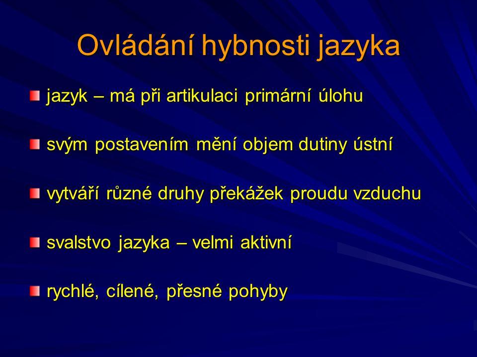 Ovládání hybnosti jazyka