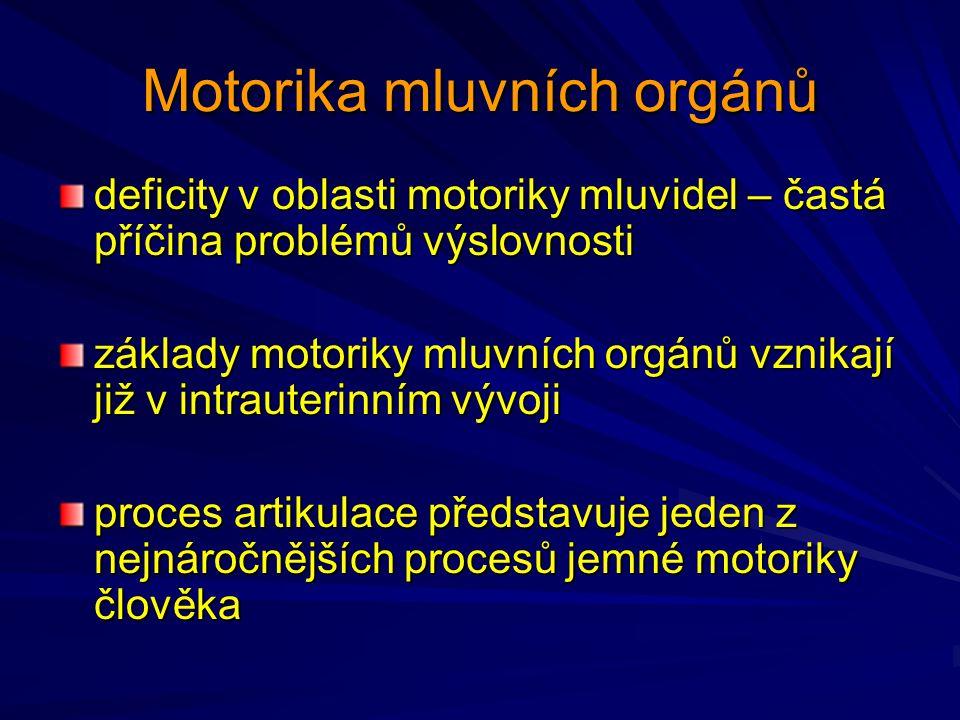 Motorika mluvních orgánů