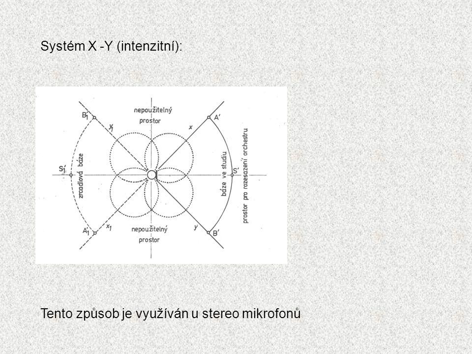 Systém X -Y (intenzitní):