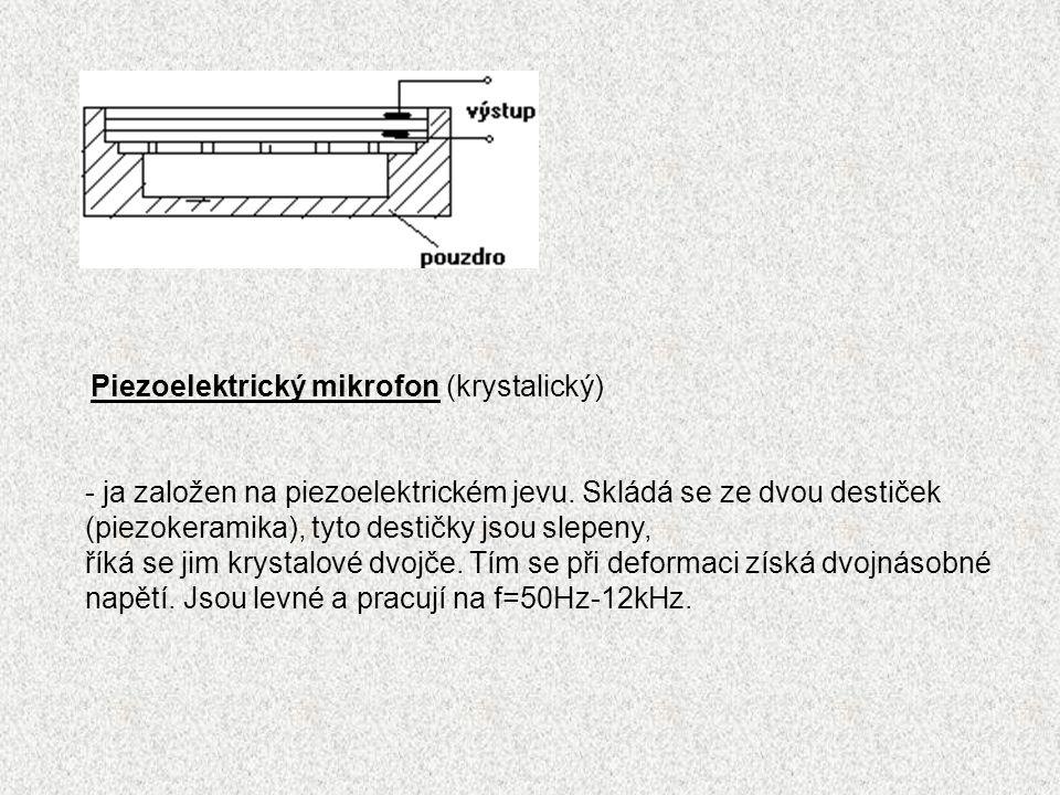 Piezoelektrický mikrofon (krystalický)