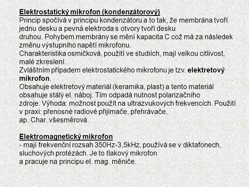 Elektrostatický mikrofon (kondenzátorový)