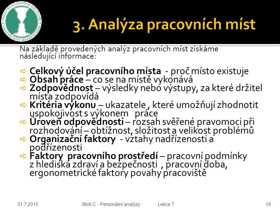 3. Analýza pracovních míst
