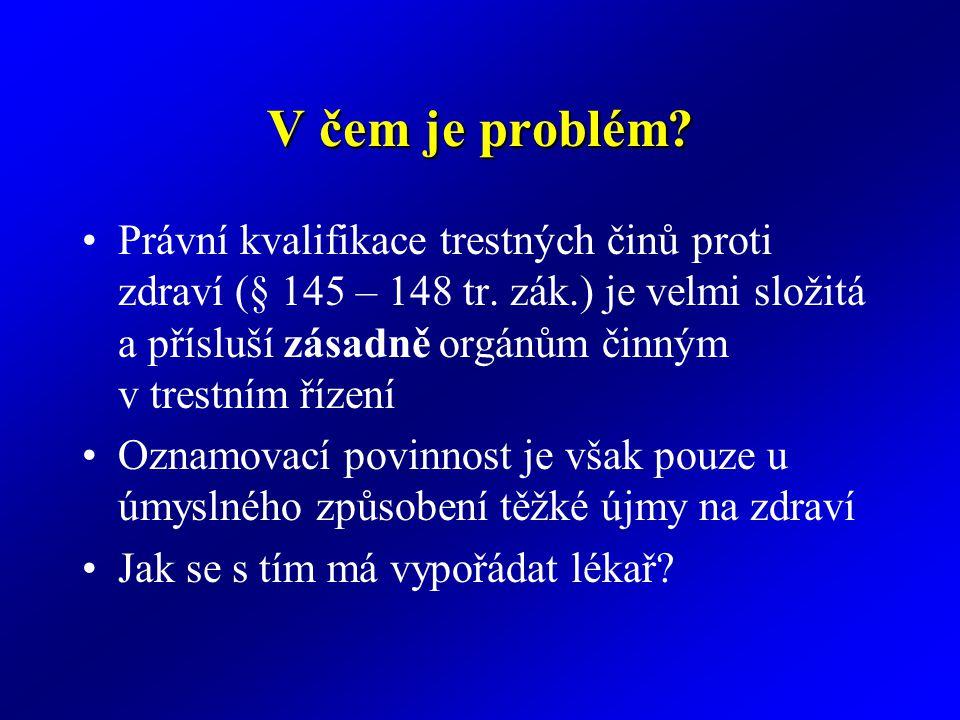 V čem je problém