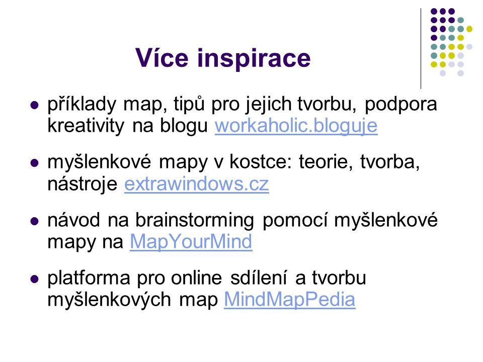 Více inspirace příklady map, tipů pro jejich tvorbu, podpora kreativity na blogu workaholic.bloguje.