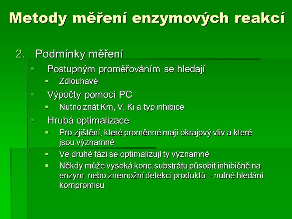 Metody měření enzymových reakcí