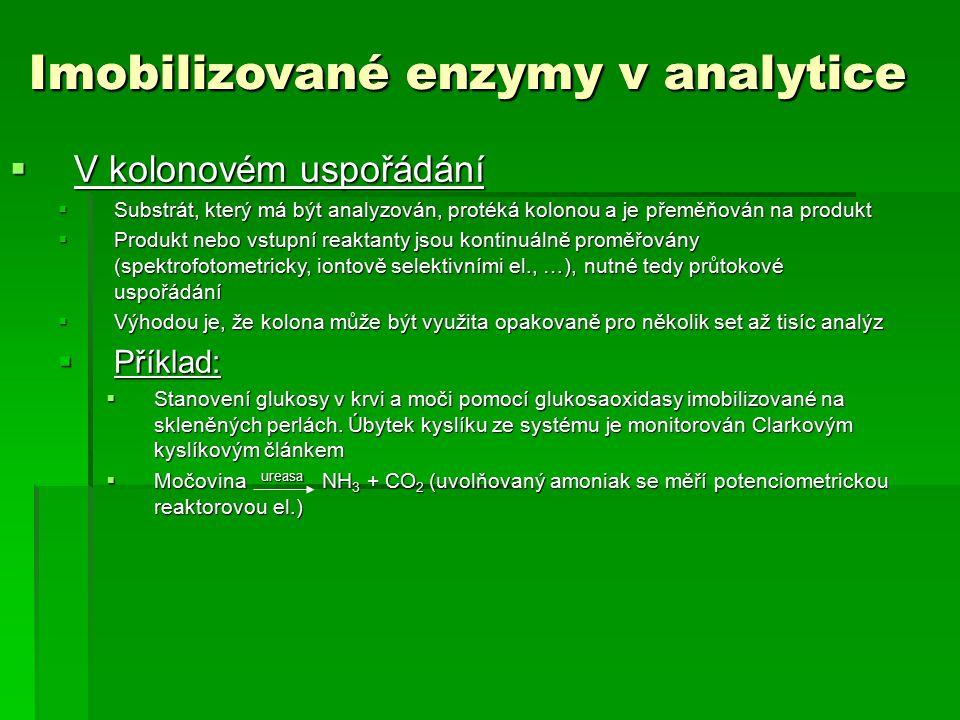 Imobilizované enzymy v analytice Imobilizované enzymy v analytice