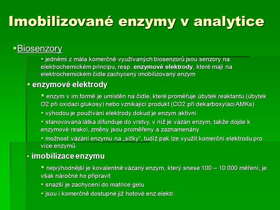 Imobilizované enzymy v analytice