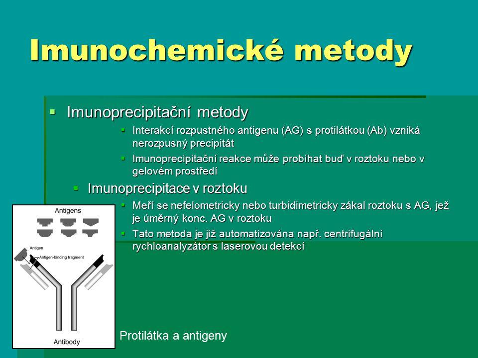 Imunochemické metody Imunoprecipitační metody