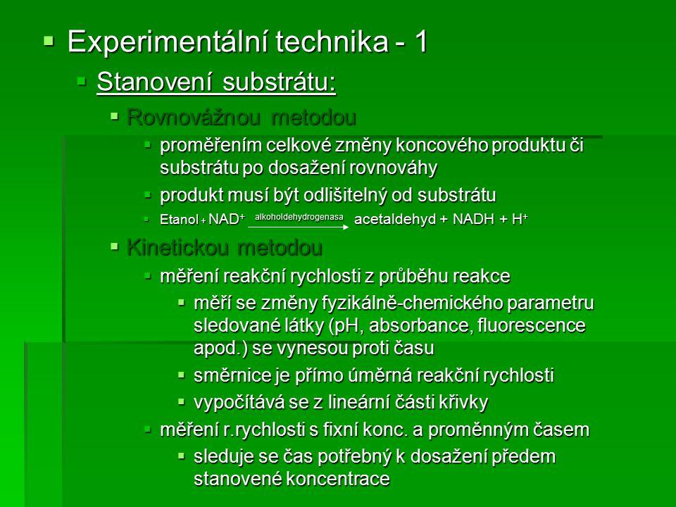 Experimentální technika - 1
