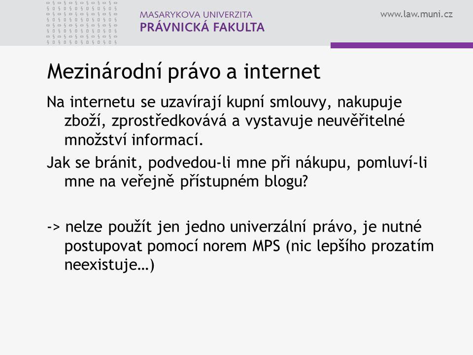 Mezinárodní právo a internet