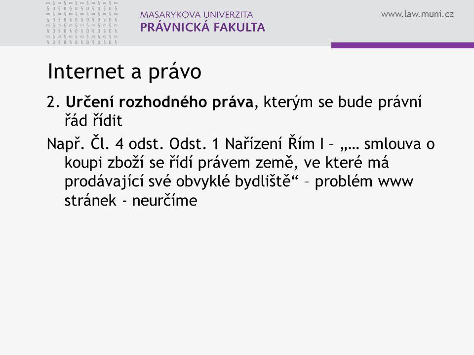 Internet a právo