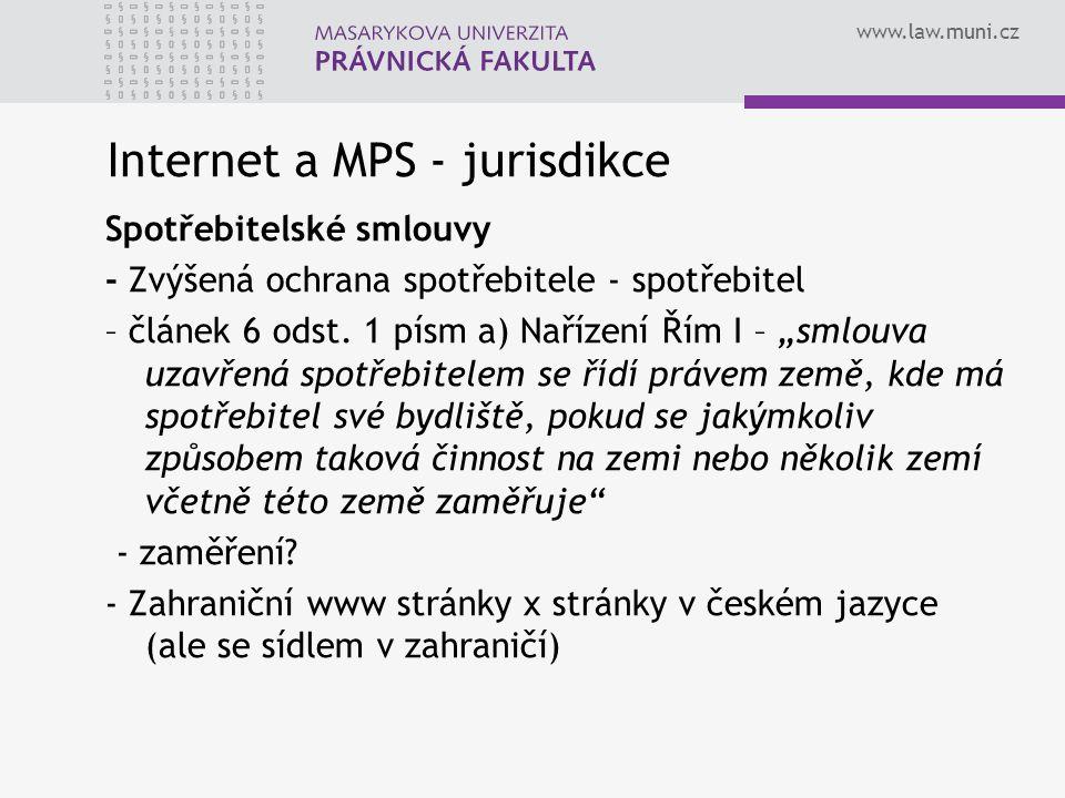Internet a MPS - jurisdikce