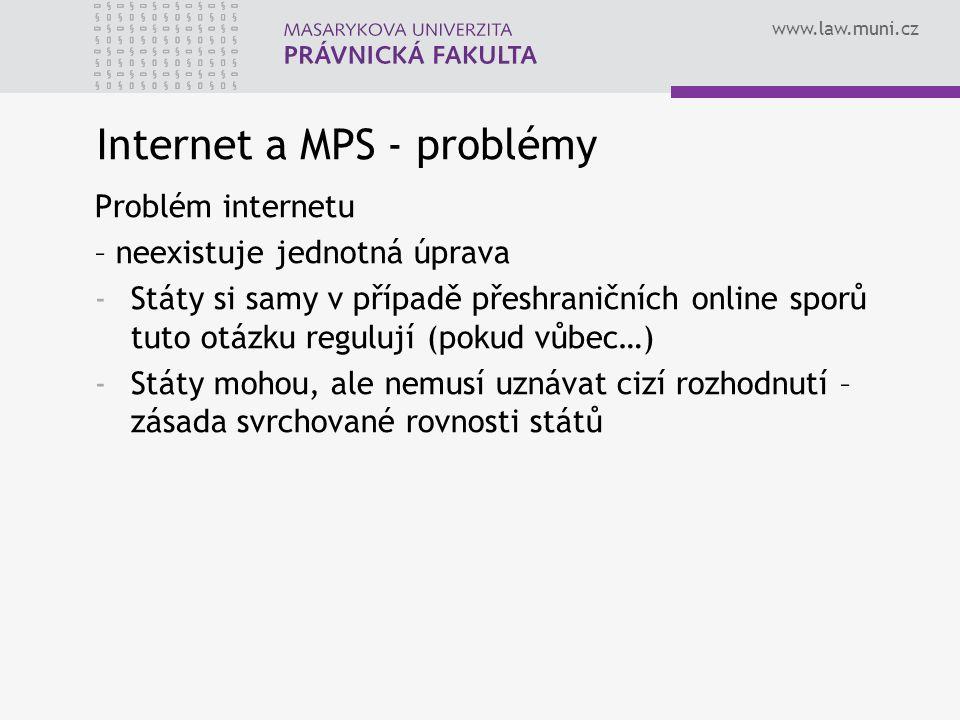 Internet a MPS - problémy