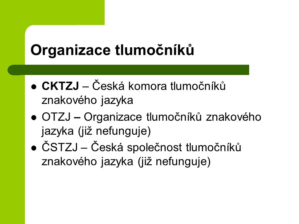 Organizace tlumočníků